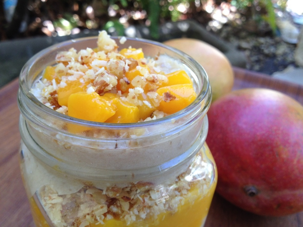 Mango Parfait with Coconut Crunch - Feasting on Fruit