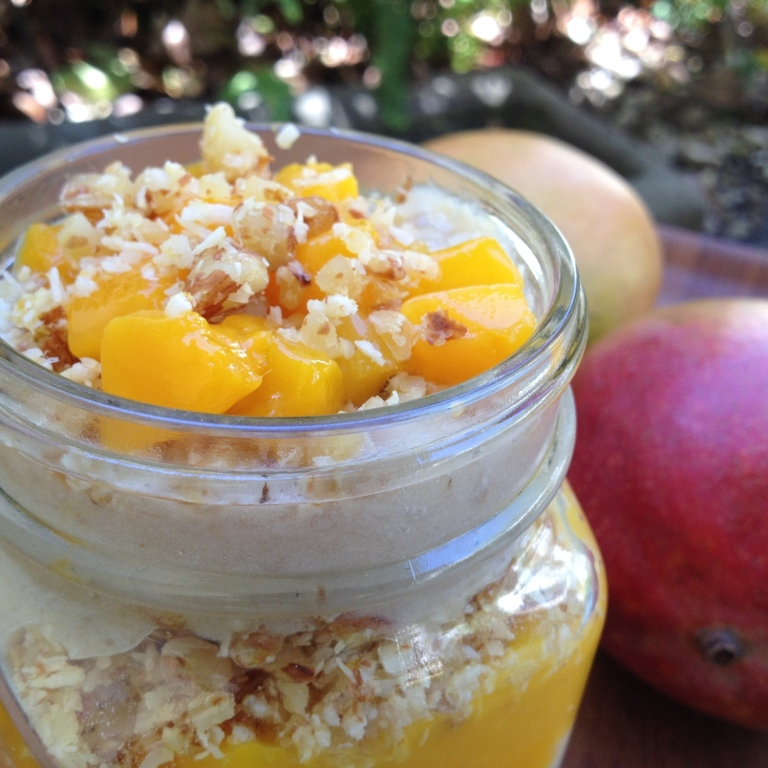 Mango Parfait with Coconut Crunch